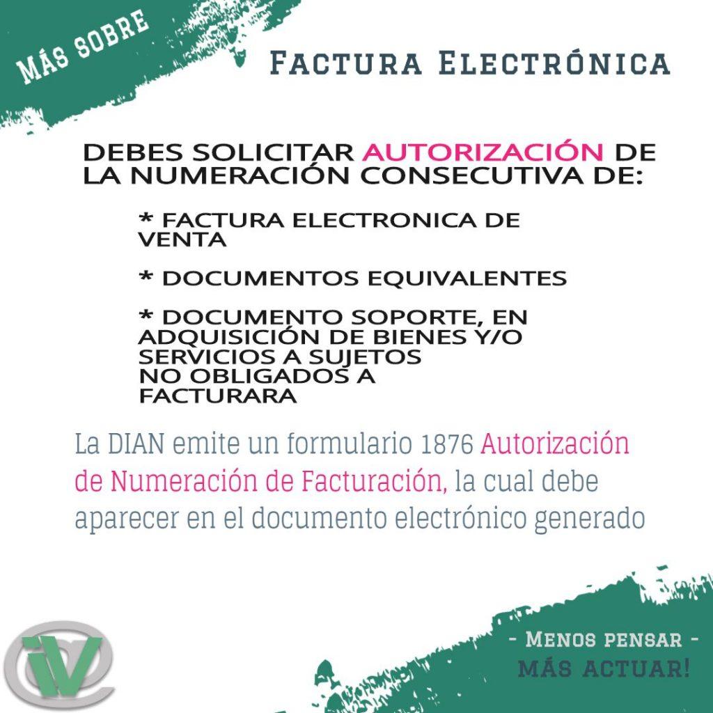 Autorización de numeración de factura electrónica